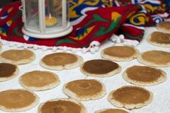 Ramadan Sweets - Qatayef. Qatayef - Traditional middle eastern sweets , usually eaten in Muslims holy month : Ramadan stock photo