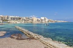 Qawra Malta Royaltyfri Fotografi
