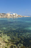 Qawra, Malta. View on Qawra, Malta as seen from across the bay. Qawra is a small town located in the northeast of the island Stock Images