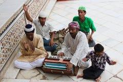 Qawwali singers at the Tomb of Sheikh Salim Chishti Stock Photography