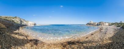 Qbajjar fjärd på ön av Gozo, Malta Arkivbild
