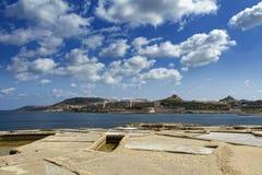 Qbajjar Saltpans и береговая линия Стоковое фото RF