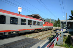 QBB Austria train arrive in the train station Stock Photos