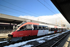 QBB local speed modern train in Austria Stock Image