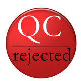 qc拒绝了 免版税图库摄影