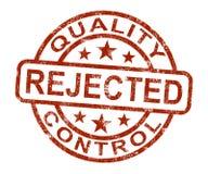 Qc被拒绝的邮票显示禁止的和不合格的产品 皇族释放例证