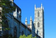 QC de Montreal Canadá da basílica de Notre-Dame foto de stock