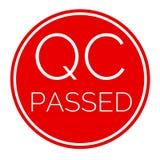 QC ging rood etiket voor zaken over royalty-vrije stock afbeeldingen