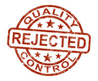 Qc Rejected Stamp Shows Disallowed And Failed Product Royalty Free Stock Photos