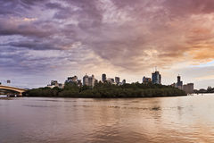 QE Brisbane River CBD Rise Stock Images