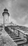 QE Byron Bay Lighthouse Vert Steps Stock Image