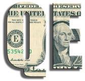 QE - Facilitação quantitativa - política monetária de banco central Fotografia de Stock Royalty Free