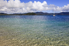 QE FI Coral island bay yacht Royalty Free Stock Images