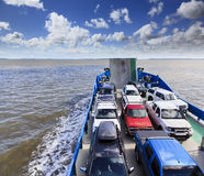 QE FI Ferry Cars onboard Stock Image