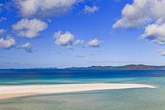 QE FI Whitehaven foreland. Coral sea great barrier reef whitsundays islands whitehaven beach of white silica sand and clean water on a sunny summer day in Royalty Free Stock Image