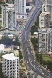 QE-GASCHROMATOGRAPHIE Cityroad-Antenne Lizenzfreies Stockbild