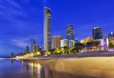 QE Surfers Paradise beach City Rise CEP royalty free stock photography