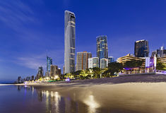 QE Surfers Paradise Q1 City Rise Stock Photos