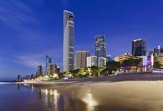 QE surfingowów raju Q1 miasta wzrost Zdjęcia Stock