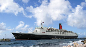 QE2 in Willemstad Curacao Royalty Free Stock Photo