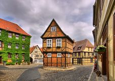 Qedlinburg oude stad Stock Afbeelding