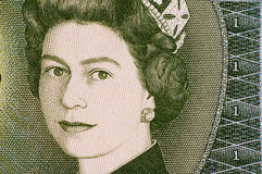 QEII. On a £1 bill royalty free stock images