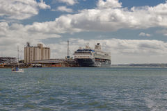 The QEII terminal at Southampton docks Stock Image