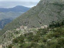 Qeparo村庄,南阿尔巴尼亚 库存照片