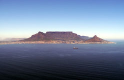 Qerial view of table mountain, cape town Royalty Free Stock Images