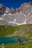 Lake sainte anne qeyras in hautes alpes in france Stock Photos