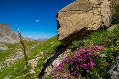 Lake sainte anne qeyras in hautes alpes in france Stock Photography