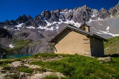 Lake sainte anne qeyras in hautes alpes in france Royalty Free Stock Photography
