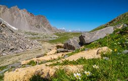 Lake sainte anne qeyras in hautes alpes in france Royalty Free Stock Photo