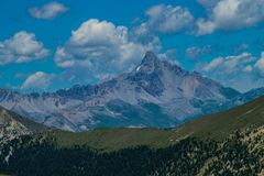 Lake sainte anne qeyras in hautes alpes in france. Qeyras in hautes alpes in france Stock Photo