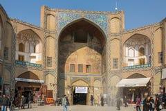 Πύλη Qeysarieh, κυρία είσοδος στην αγορά (Bazaar) στο Ισφαχάν, Ι Στοκ Φωτογραφίες