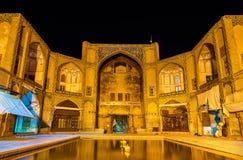 Qeysarieh portal, ingång till bazaren-е Bozorg Royaltyfria Foton