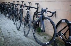 Qhubeka Cycling team equipment Stock Image
