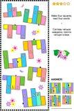 QI formant le puzzle abstrait de mot, fleurs orientées Photo libre de droits