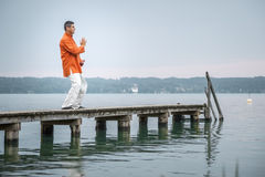Qi-Gong early morning Royalty Free Stock Images
