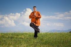 Qi-gong extérieur Photo libre de droits