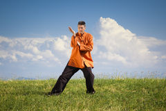 Qi-Gong outdoor Stock Images