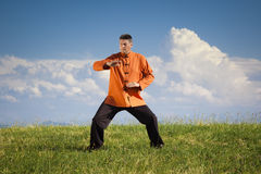 Qi-Gong outdoor Stock Image