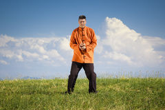 Qi-Gong outdoor Royalty Free Stock Image