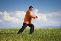 Qi-Gong outdoor Stock Photo