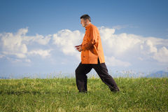 Qi-Gong outdoor Royalty Free Stock Photos
