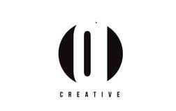 QI Q I White Letter Logo Design with Circle Background. Royalty Free Stock Image