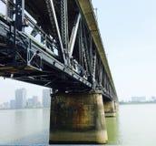 Qian Tang River Bridge imagens de stock royalty free