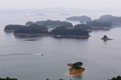 QIANDAOHU in China is het hoogste aantal eilanden in het meer Royalty-vrije Stock Afbeelding