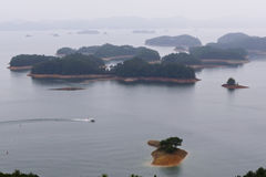 QIANDAOHU in China is the highest number of islands in the lake Royalty Free Stock Image