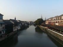 Qiandeng Antyczny miasteczko, Suzhou, Chiny Obrazy Stock
